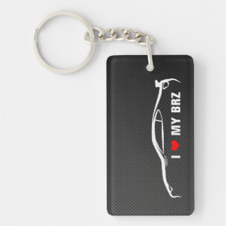 I Liebe mein BRZ Einseitiger Rechteckiger Acryl Schlüsselanhänger