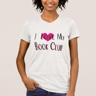 I Liebe mein Buch-Verein-Herz-T-Shirt T-Shirt