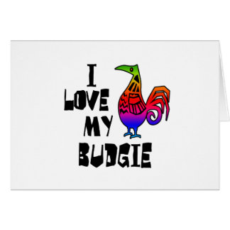 I Liebe mein Budgie Karte