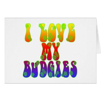 I Liebe mein Budgies Karte
