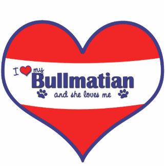I Liebe mein Bullmatian (weiblicher Hund) Fotoskulptur Ornament
