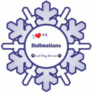 I Liebe mein Bullmatians (mehrfache Hunde) Fotoausschnitte