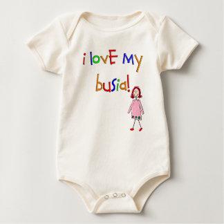 I Liebe mein Busia (polnische Großmutter) Baby Strampler