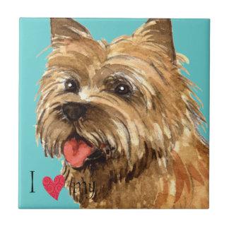 I Liebe mein Cairn-Terrier Fliese
