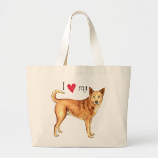 I Liebe mein Canaan Hund Jumbo Stoffbeutel