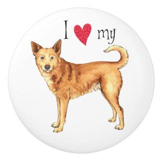 I Liebe mein Canaan Hund Keramikknauf
