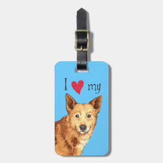 I Liebe mein Canaan Hund Kofferanhänger