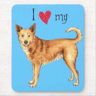 I Liebe mein Canaan Hund Mousepad