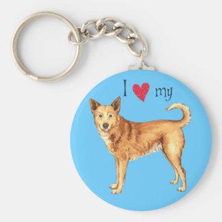 I Liebe mein Canaan Hund Schlüsselanhänger