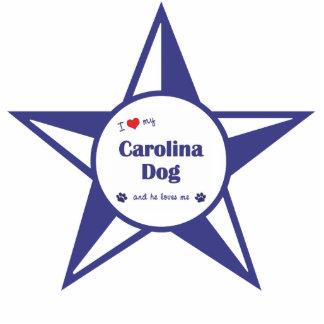 I Liebe mein Carolina-Hund (männlicher Hund) Photostatue