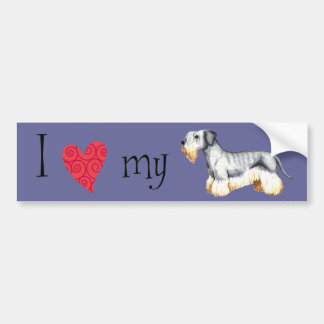 I Liebe mein Cesky Terrier Autoaufkleber