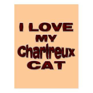I LIEBE MEIN CHARTREUX CAT drk rd Postkarte