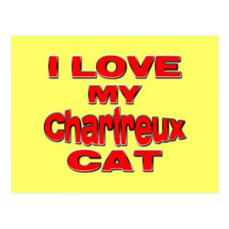 I LIEBE MEIN CHARTREUX CAT rd Postkarte