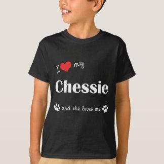 I Liebe mein Chessie (weiblicher Hund) T-Shirt