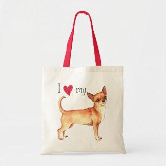 I Liebe mein Chihuahua Tragetasche
