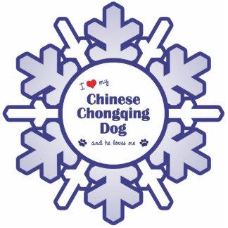 I Liebe mein chinesischer Chongqing-Hund (männlich Foto Skulpturen