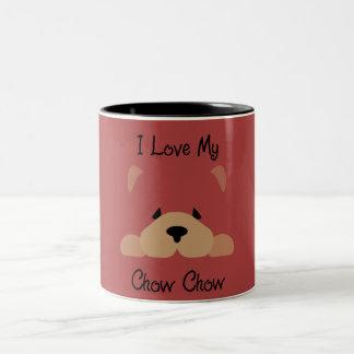 I Liebe mein Chow-Chow Chow-Chow Zweifarbige Tasse
