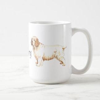 I Liebe mein Clumber Spaniel Kaffeetasse