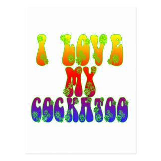 I Liebe mein Cockatoo Postkarte
