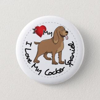 I Liebe mein Cockerspaniel-Hund Runder Button 5,1 Cm