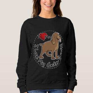 I Liebe mein Cockerspaniel-Hund Sweatshirt