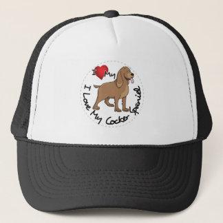 I Liebe mein Cockerspaniel-Hund Truckerkappe