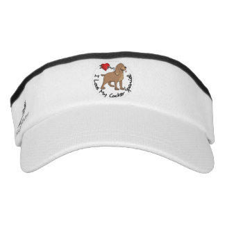 I Liebe mein Cockerspaniel-Hund Visor