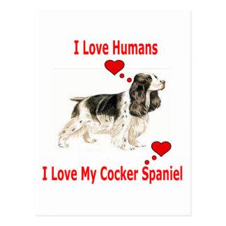 I Liebe mein Cockerspaniel Postkarten