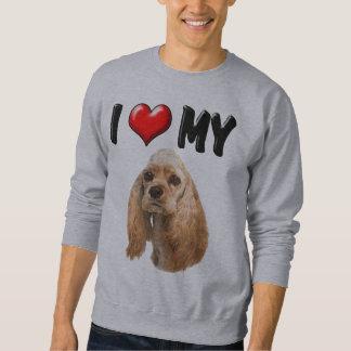 I Liebe mein Cockerspaniel Sweatshirt