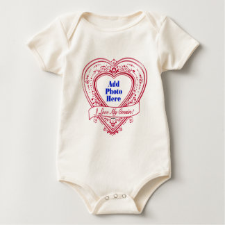 I Liebe mein Cousin! Foto-Rot-Herzen Baby Strampler