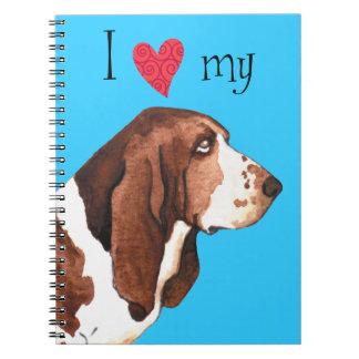 I Liebe mein Dachshund-Jagdhund Notizblock
