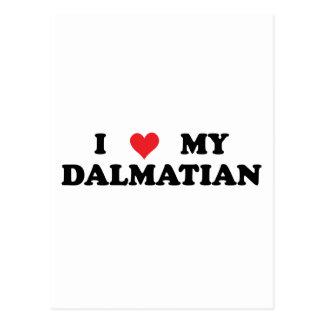 I Liebe mein Dalmatiner Postkarte