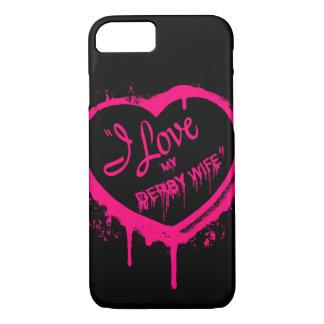 I Liebe mein Derby-Ehefrautelefon-Kasten iPhone iPhone 8/7 Hülle