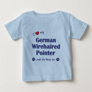 I Liebe mein deutscher Drahthaar-Zeiger Baby T-shirt
