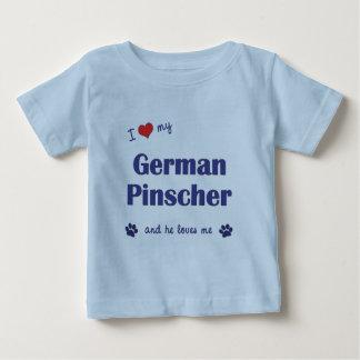 I Liebe mein deutscher Pinscher (männlicher Hund) Baby T-shirt