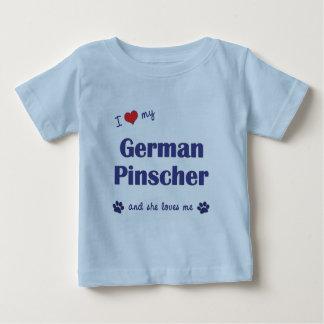 I Liebe mein deutscher Pinscher (weiblicher Hund) Baby T-shirt