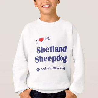 I Liebe mein die Shetlandinseln-Schäferhund Sweatshirt