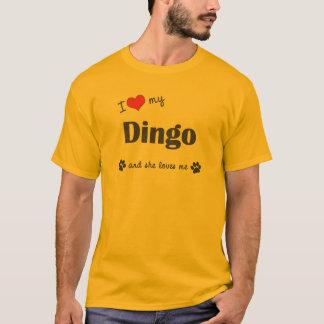 I Liebe mein Dingo (weiblicher Hund) T-Shirt