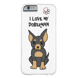 I Liebe mein Dobermann-Telefon-Kasten Barely There iPhone 6 Hülle
