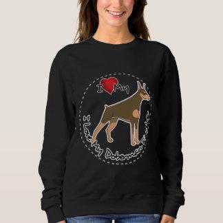 I Liebe mein Dobermannpinscher-Hund Sweatshirt