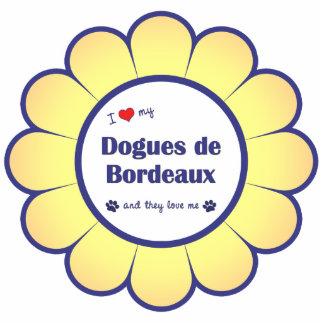 I Liebe mein Dogues de Bordeaux (mehrfache Hunde) Fotoskulptur Ornament