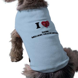 I Liebe mein DUNKLES MELODISCHES TODESmetall Ärmelfreies Hunde-Shirt