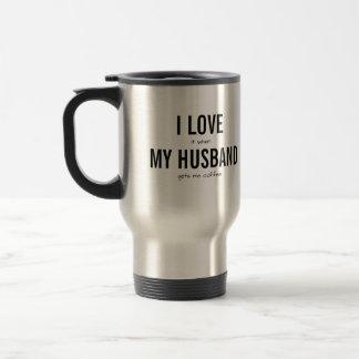 I Liebe mein Ehemann-lustiger Kaffee-Spaß Reisebecher
