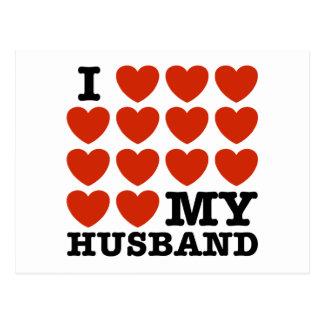 I Liebe mein Ehemann Postkarte