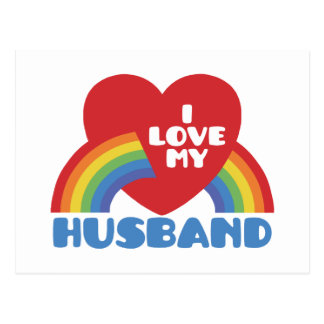 I Liebe mein Ehemann Postkarten