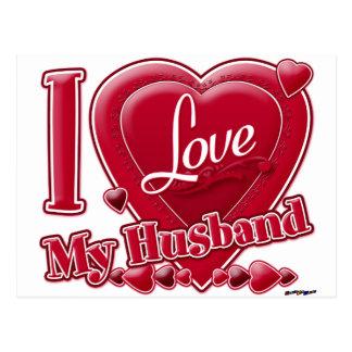 I Liebe mein Ehemannrot - Herz Postkarte