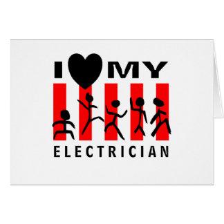 I Liebe mein Elektriker Karte