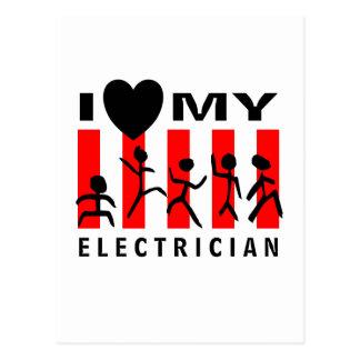 I Liebe mein Elektriker Postkarte