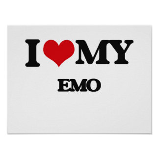 I Liebe mein EMO Poster