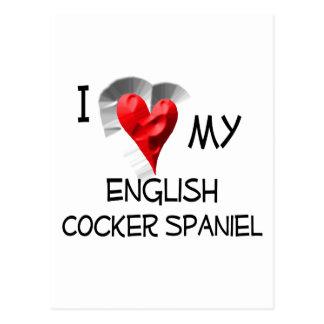 I Liebe mein englischer Cockerspaniel Postkarte